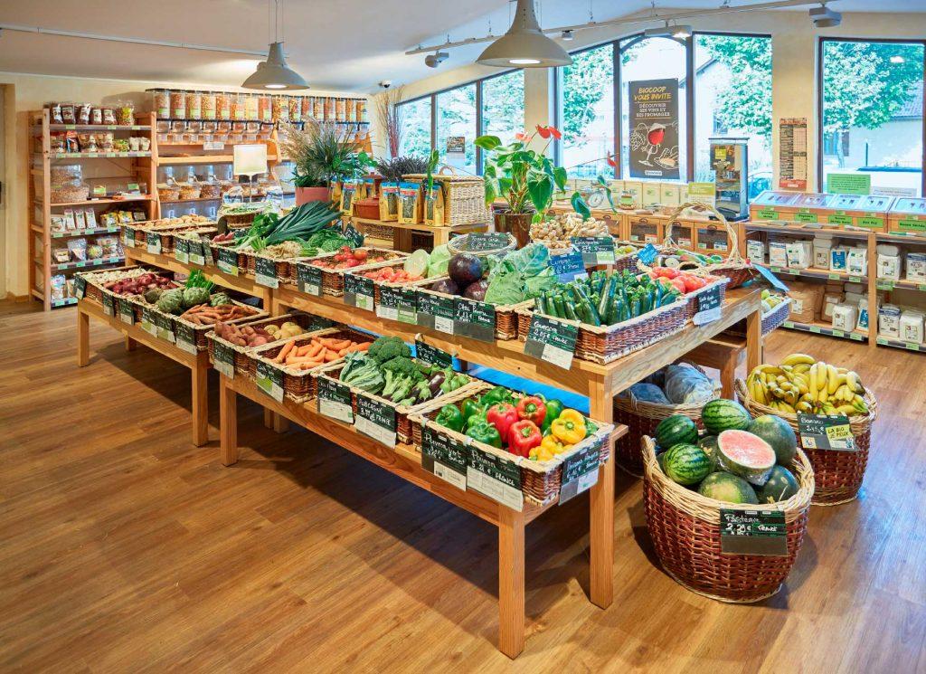 Mobilier sur mesure pour les fruits et légumes