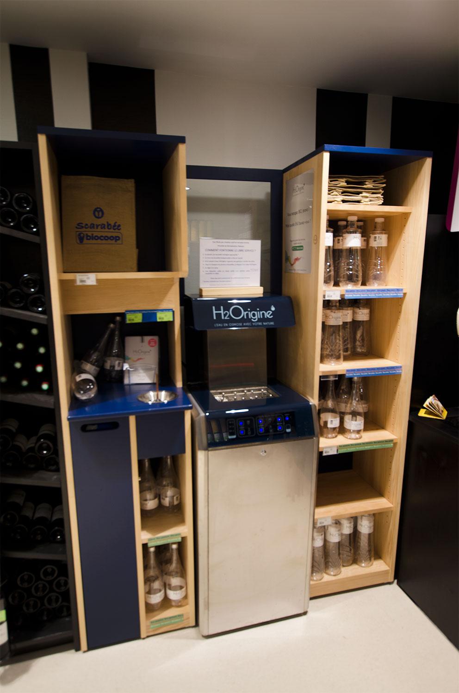 Meubles de distribution de liquide en vrac bio cr ation bois for Meubles en vrac