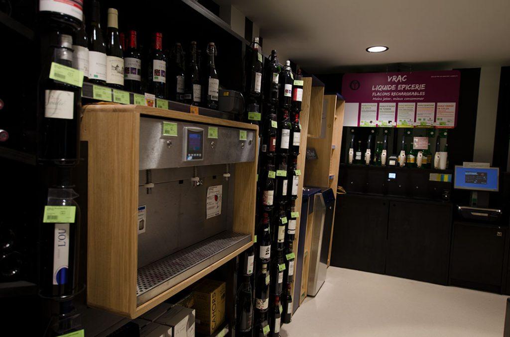 vins meubles dédiés à la vente