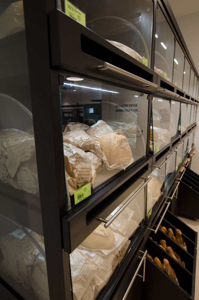 meubles présentoir boulangerie