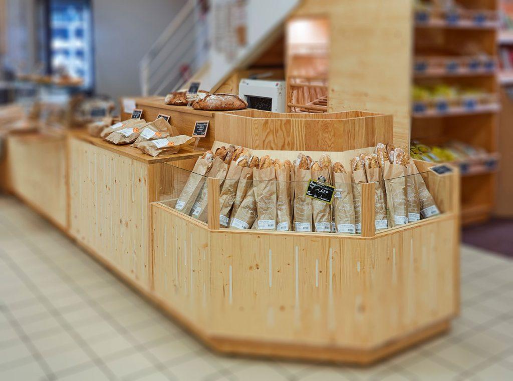 matériel de présentoir boulangerie