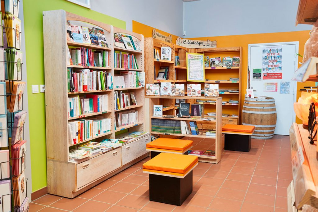 rayonnage meubles librairie