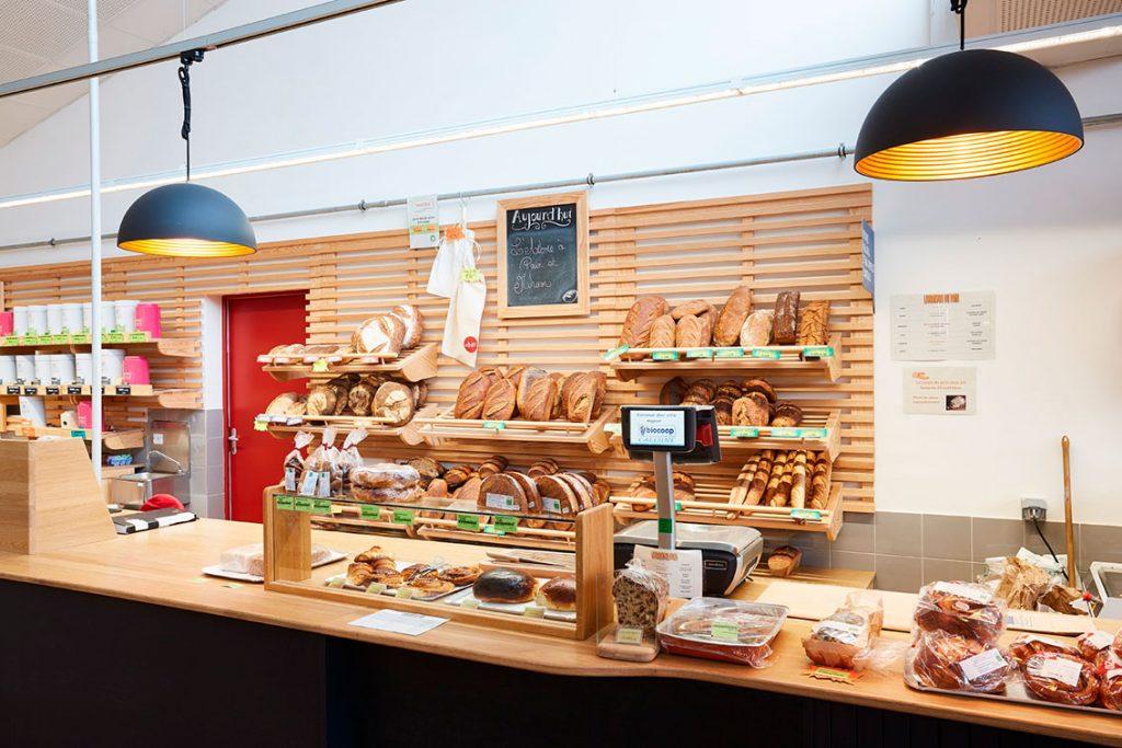 meuble service arrière bois boulangerie