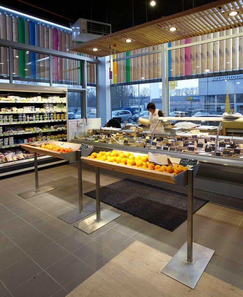 meuble étagère supermarché