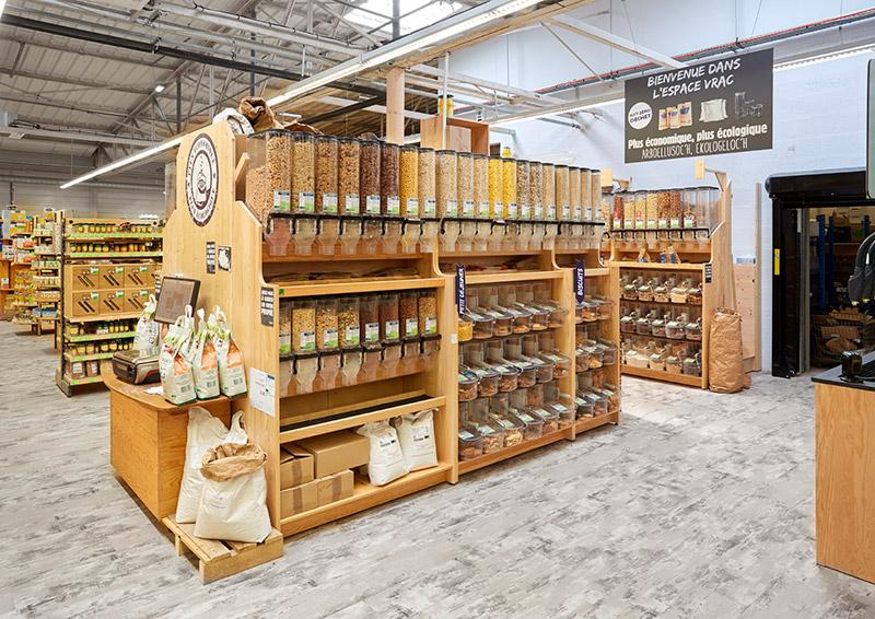Distributeur vrac bois céréales