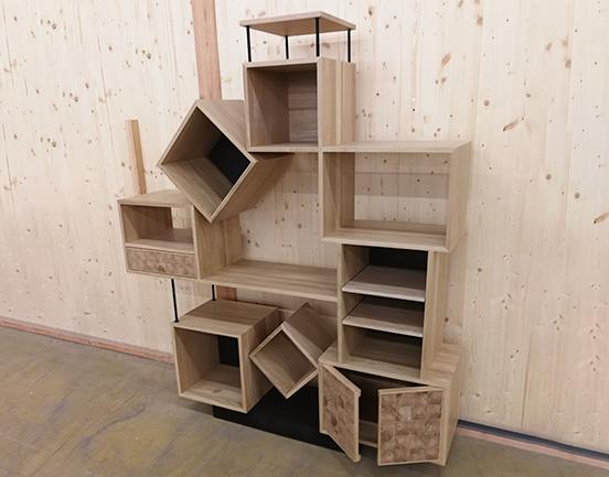 visuel Bibliothèque bois